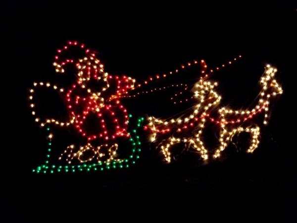 Santa's Sleigh Christmas Lights - Free High Resolution Photo