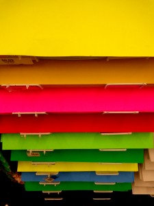 Colorful Posterboard Display in Store - Free High Resolution Photo
