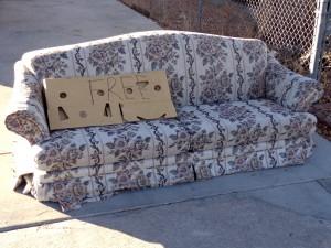 Free Sofa in Driveway - Free High Resolution Photo