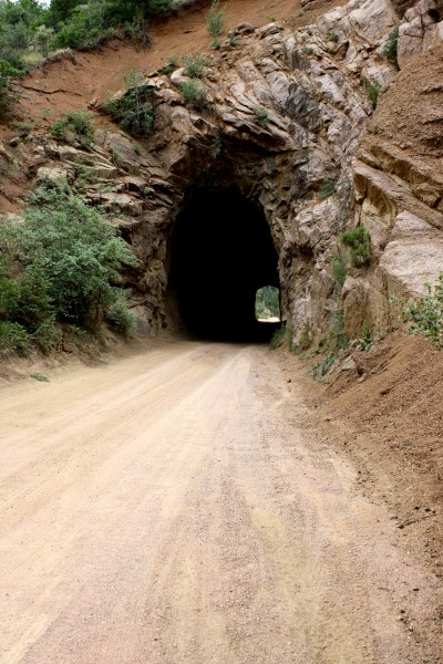 Tunnel on One Lane Mountain Dirt Road - Free High Resolution Photo