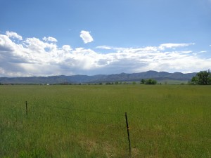 Prairie with Mountains in the Background - Free High Resolution Photo