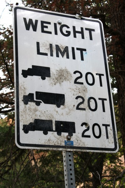 Weight Limit 20 Tons Road Sign - Free High Resolution Photo