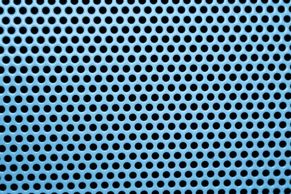 Light Blue Metal Mesh with Round Holes Texture - Free High Resolution Photo
