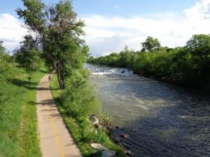 South Platte Bike Path Through Denver - Free High Resolution Photo