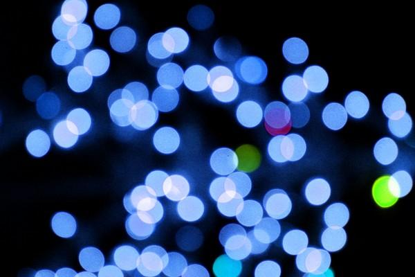 Blurred Christmas Lights Blue - Free High Resolution Photo
