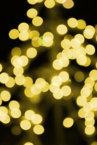 Gold Christmas Lights - Free High Resolution Photo