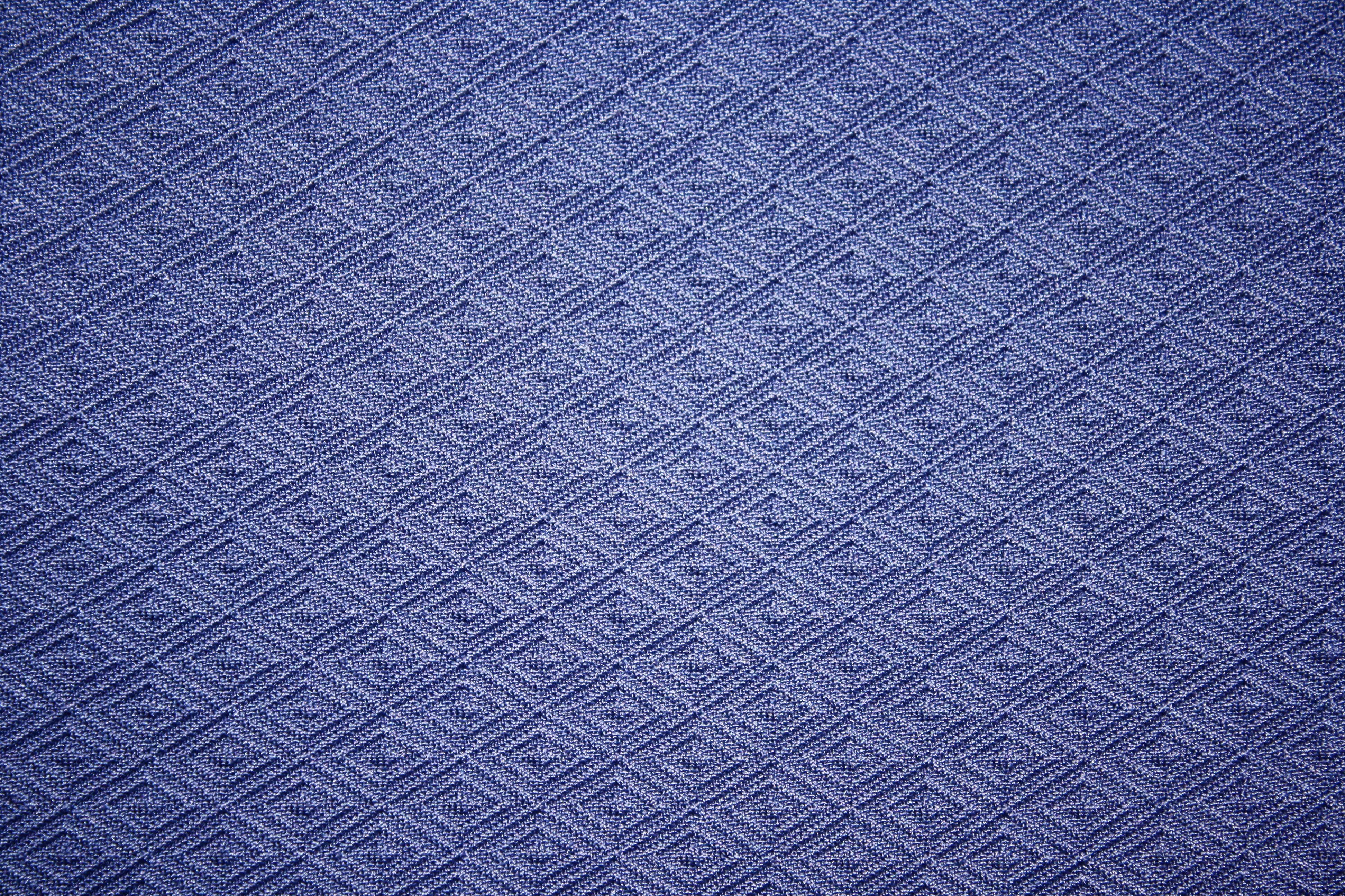 Blue Knit Fabric with Diamond Pattern Texture Picture ...