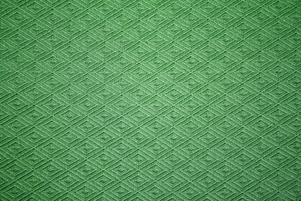 Green Knit Fabric with Diamond Pattern Texture - Free High Resolution Photo