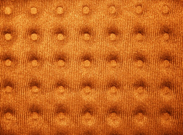 Orange Tufted Fabric Texture - Free High Resolution Photo