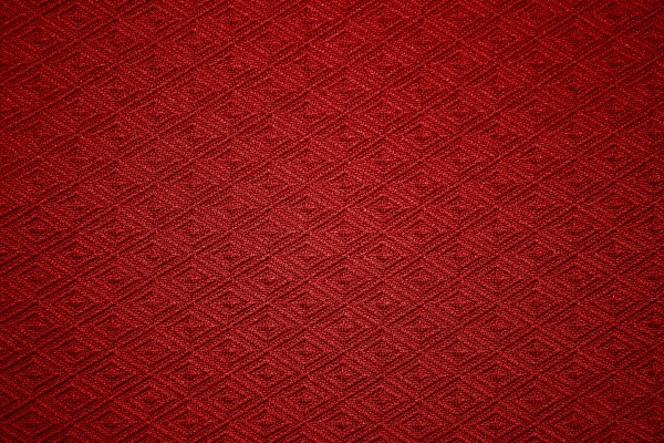 Red Knit Fabric with Diamond Pattern Texture - Free High Resolution Photo