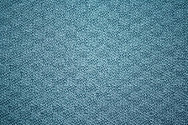 Teal Knit Fabric with Diamond Pattern Texture - Free High Resolution Photo