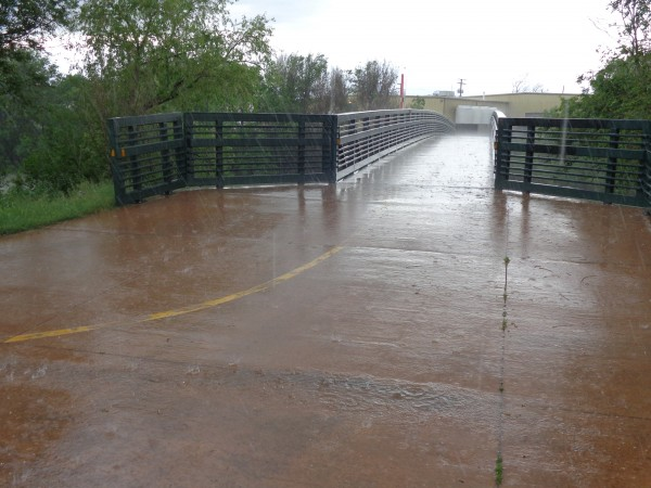 Bike Path in Rainstorm - Free High Resolution Photo