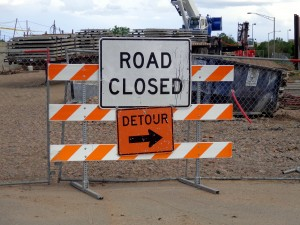 Road Closed Detour Sign - Free High Resolution Photo