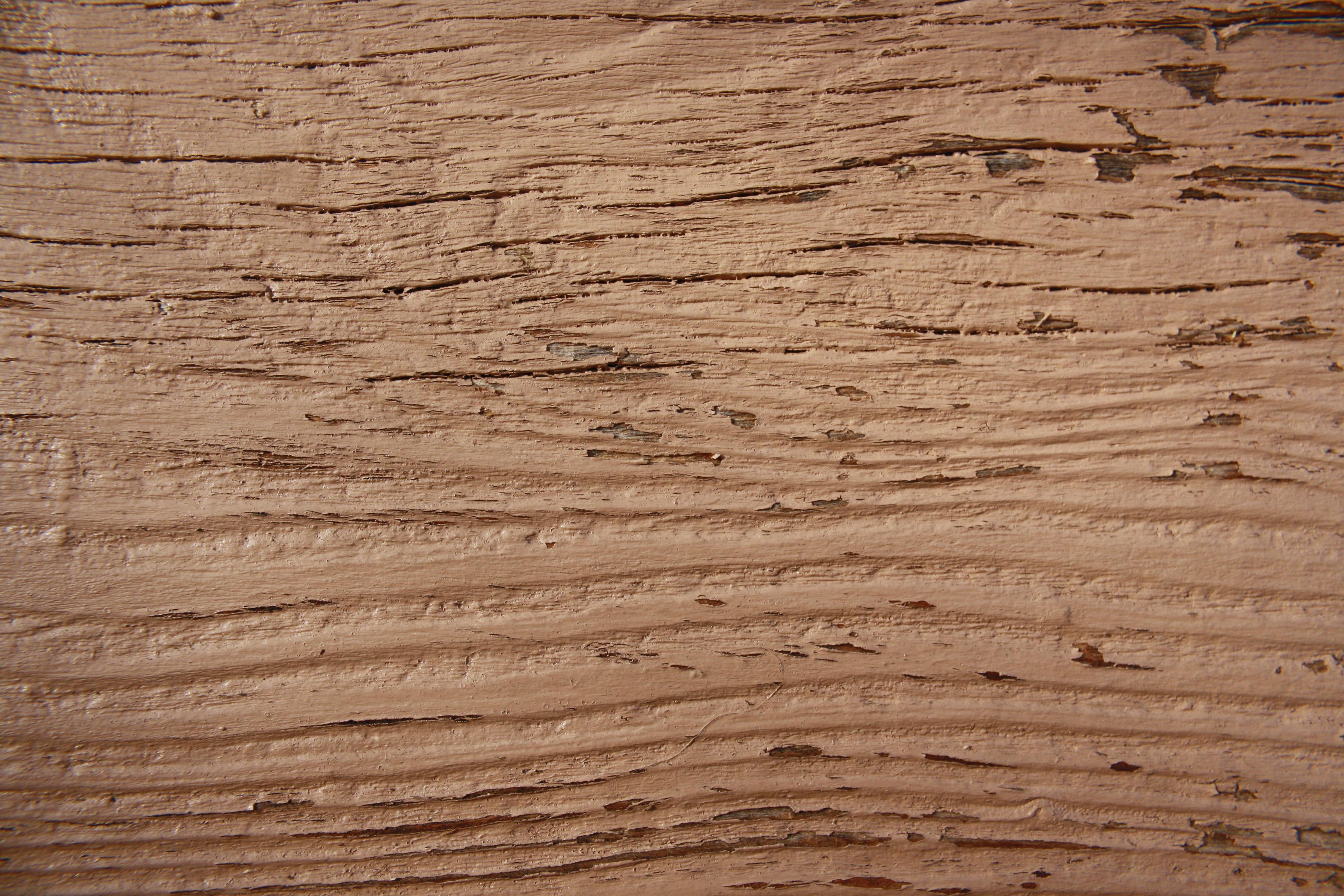 Wood Grain Closeup Texture with Brown Peeling Paint ...