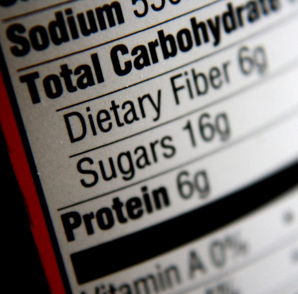 Nutritional Information Label - Carbohydrates, Sugars, Protein - Free High Resolution Photo