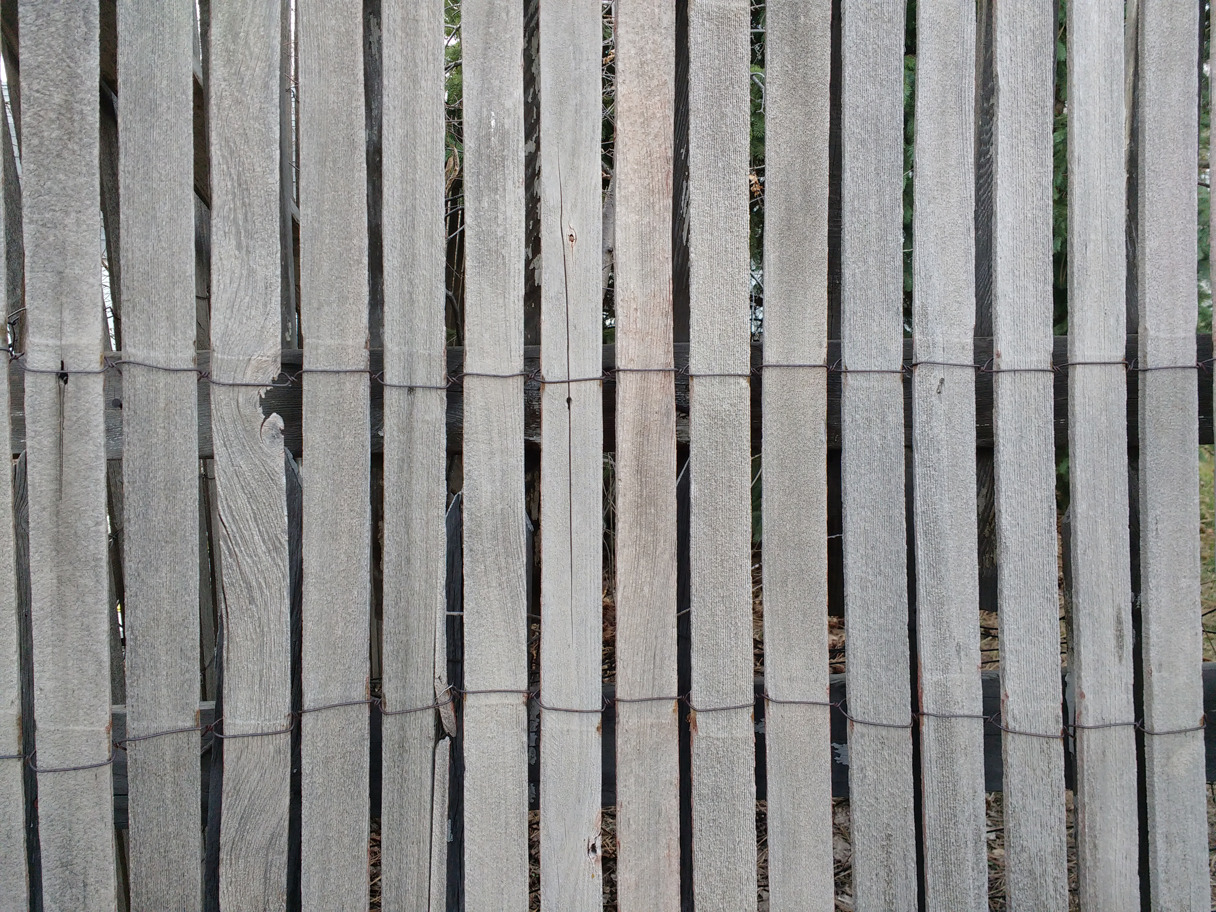Weathered Rolled Wood Fencing Texture Picture Free