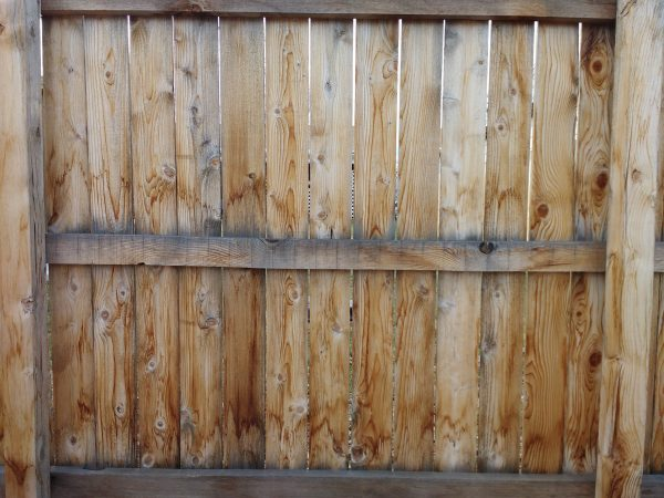 Wooden Fence Section Back Side - Free High Resolution Photo