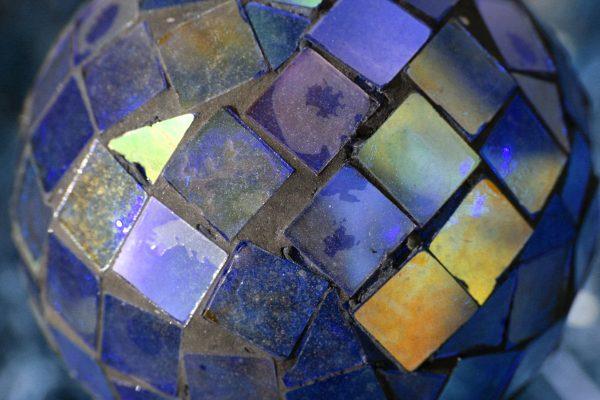 Blue Glass Mosaic Ball - Free high resolution photo