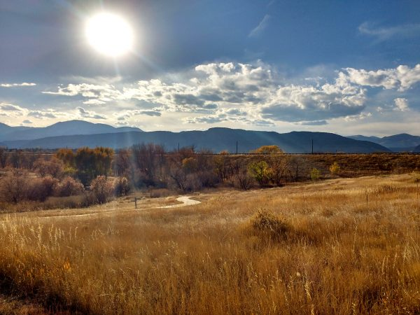 Autumn Sun over Prairie and Mountain Landscape - Free High Resolution Image