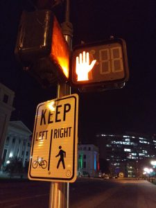 Lighted Pedestrian Cross Signal at Night - Free High Resolution Photo