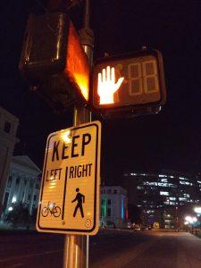 Lighted Pedestrian Cross Signal at Night - Free High Resolution Photo