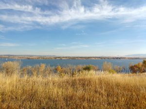 Reservoir in Fall with Prairie Grass - Free High Resolution Photo