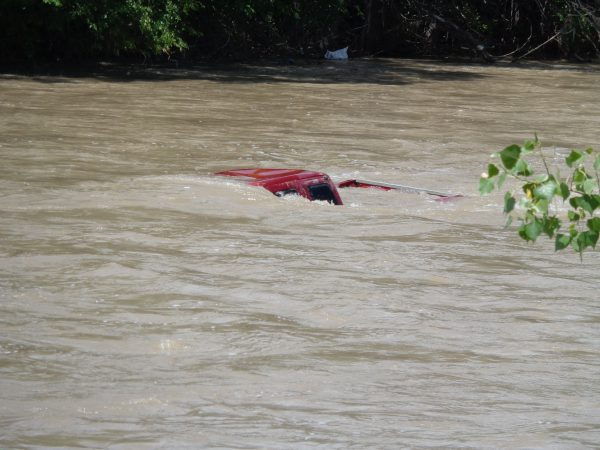 Truck Submerged in River - Free High Resolution Photo