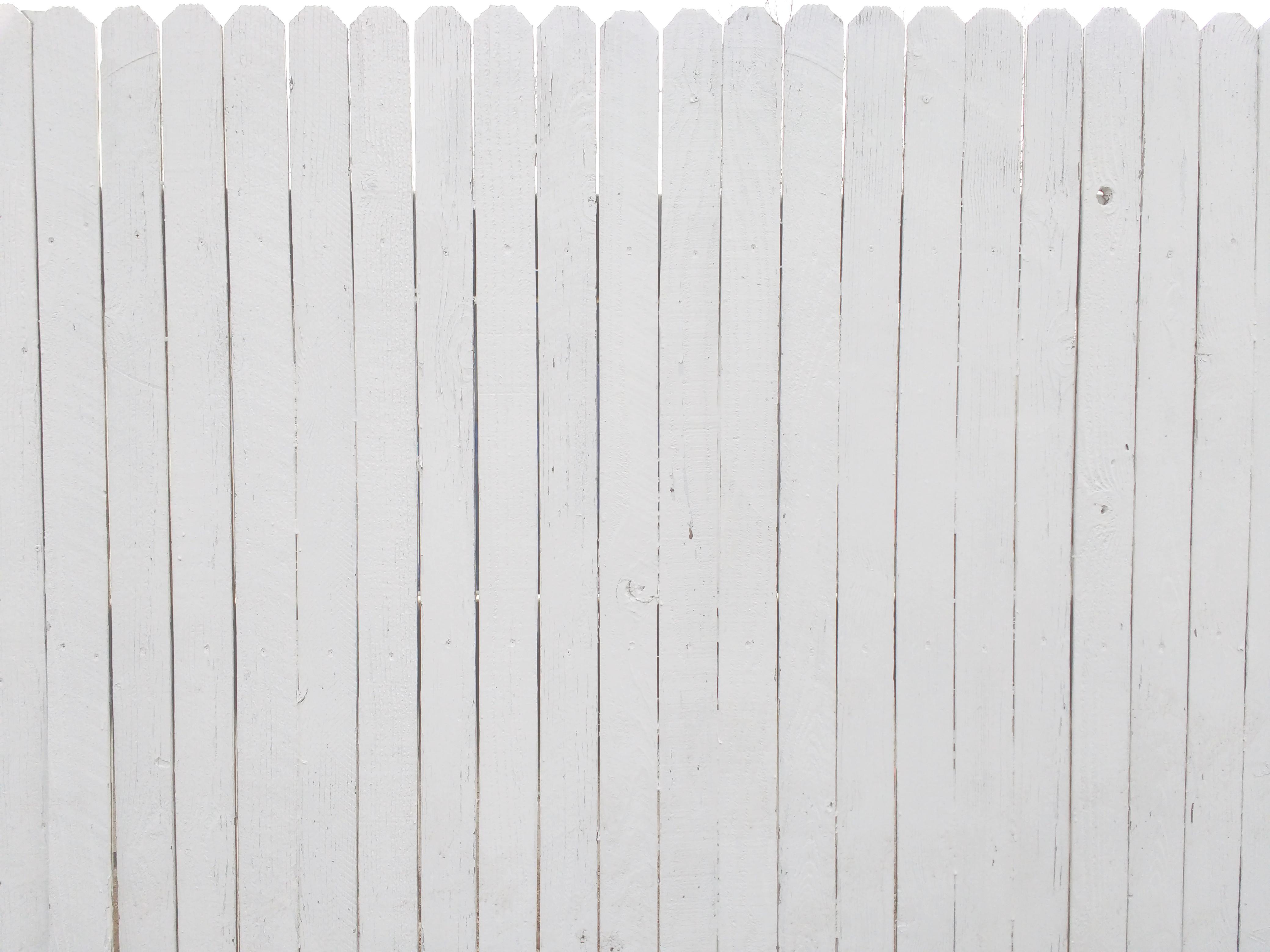White Painted Fence Texture Picture Free Photograph Photos Public Domain