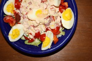 Salad with Hard Boiled Eggs and Thousand Island Dressing - Free High Resolution Photo