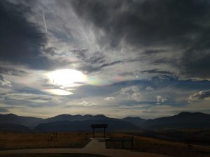 Mountain Overlook with Iridescent Clouds - Free High Resolution Photo