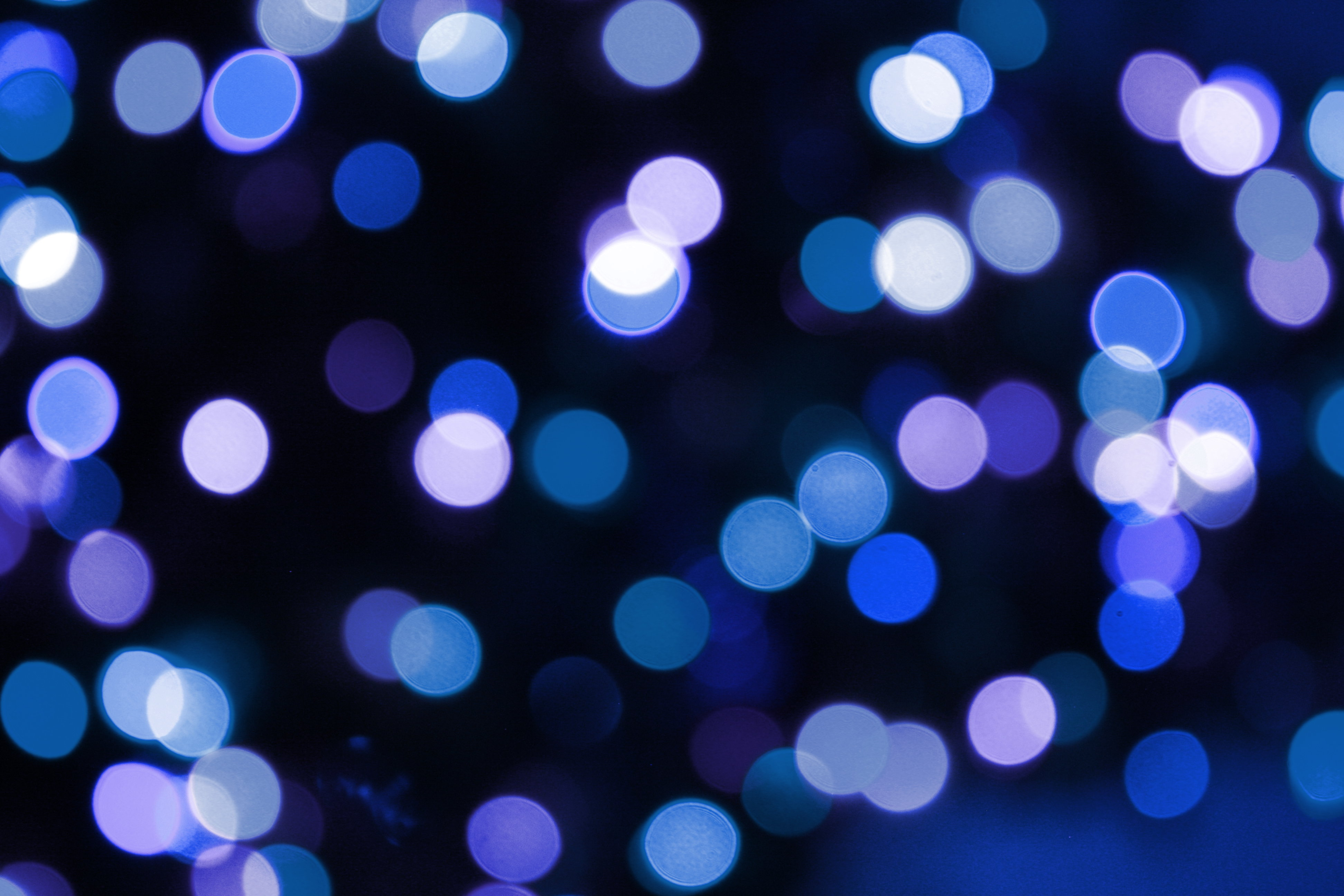 Soft Focus Blue Christmas Lights Texture Picture Free