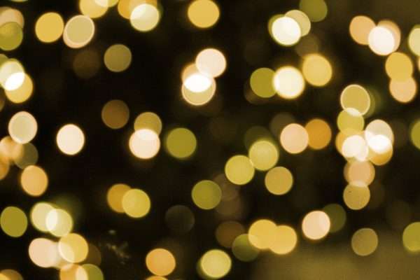 Soft Focus Gold Christmas Lights Texture - Free High Resolution Photo