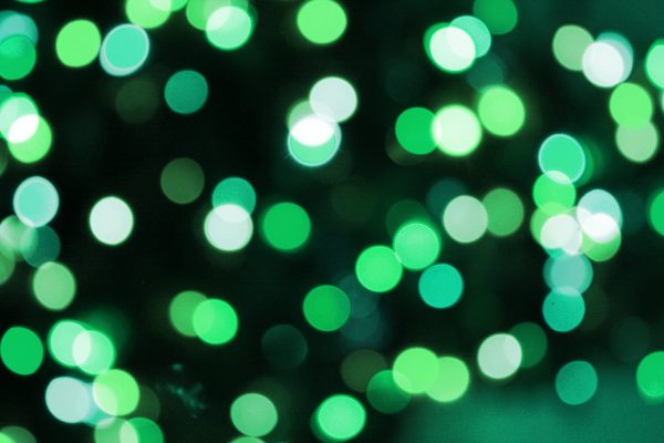 Soft Focus Green Christmas Lights Texture - Free High Resolution Photo