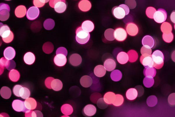 Soft Focus Pink Christmas Lights Texture - Free High Resolution Photo