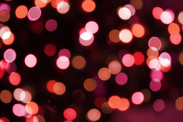 Soft Focus Red Christmas Lights Texture - Free High Resolution Photo