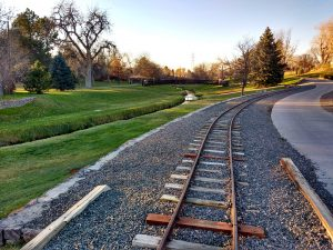 Train Tracks, Stream, and Path through Park - Free High Resolution Photo
