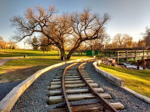 Train Tracks Through Park - Free High Resolution Photo