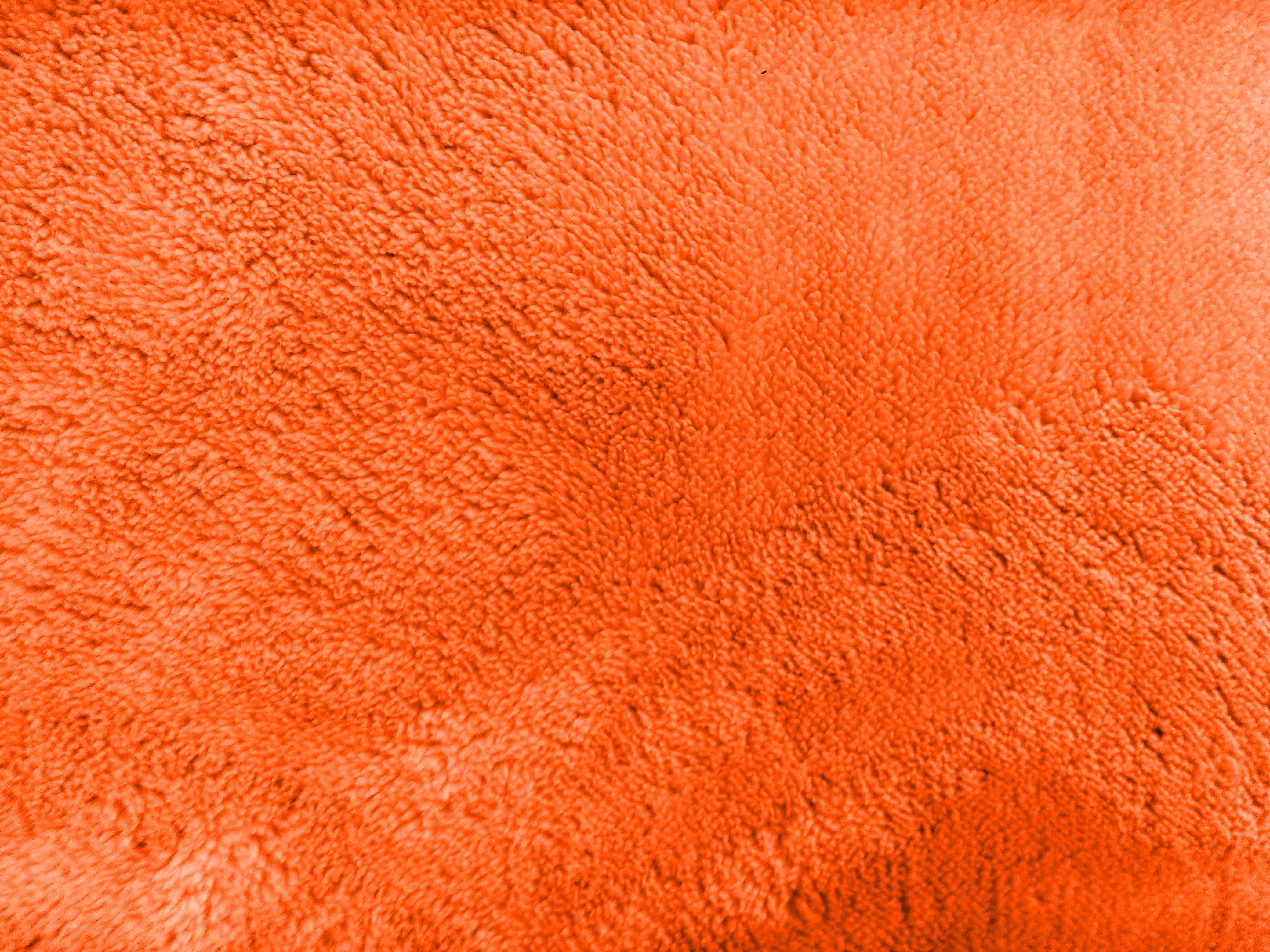 Plush Orange Bathmat Texture Picture Free Photograph