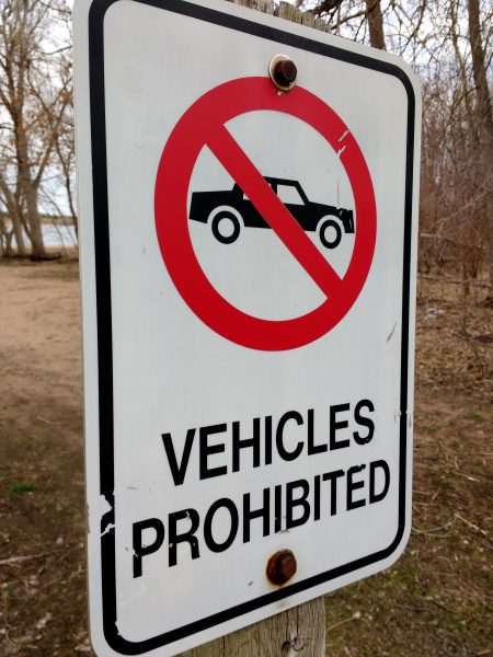 Vehicles Prohibited Sign - Free high Resolution Photo
