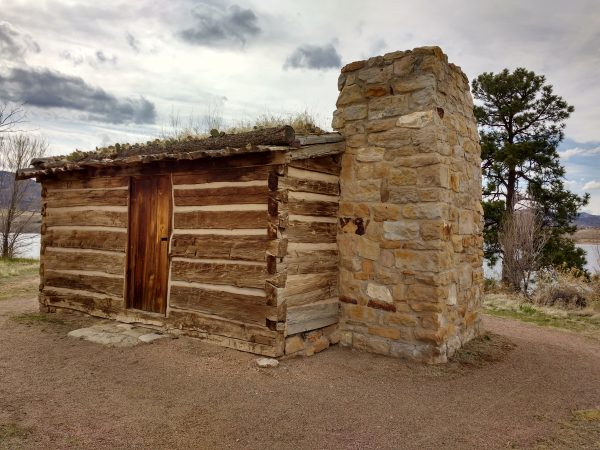 Log Cabin with Stone Chimney - Free High Resolution Photo