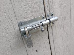 Padlocked Sliding Bolt Latch - Free High Resolution Photo