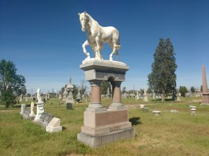 Horse Sculpture atop Gravestone in old Cemetery - Free High Resolution Photo