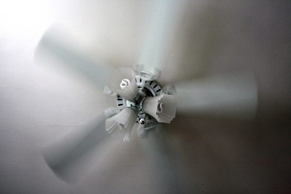Spinning Ceiling Fan with Light Fixture - Free High Resolution Photo