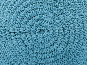 Gathered Light Blue Fabric in Concentric Circles Texture - Free High Resolution Photo
