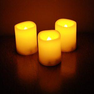 Three Yellow Candles - Free High Resolution Photo