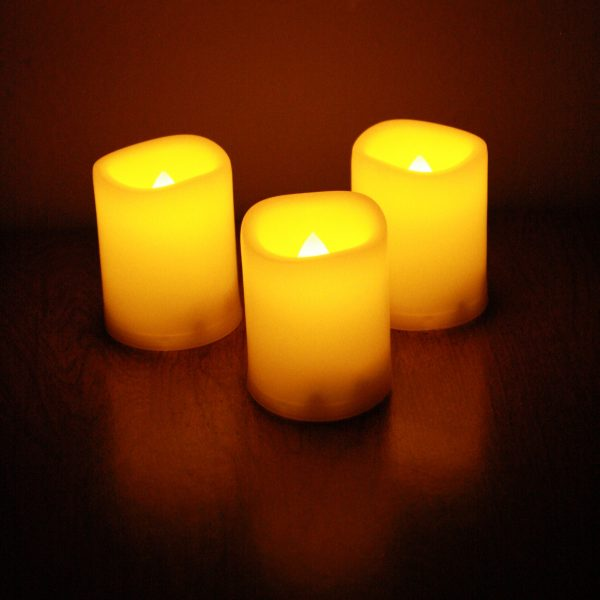 Three Yellow Candles - Free High Resolution Photo