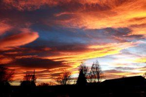 Sunset Over Neighborhood - Free High Resolution Photo
