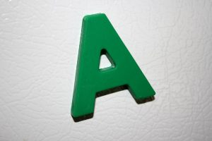 Letter A Green Refrigerator Magnet - Free High Resolution Photo