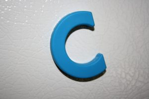 Letter C Blue Refrigerator Magnet - Free High Resolution Photo