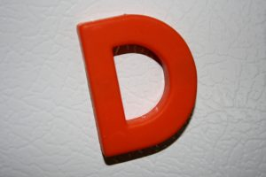 Letter D Red Refrigerator Magnet - Free High Resolution Photo